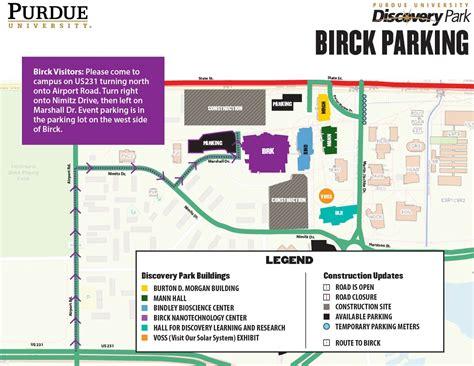 discovery maps parking birck nanotechnology center purdue