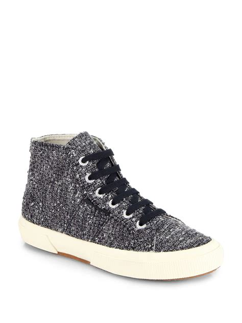 superga sneakers silver the row for superga metallic tweed hightop sneakers in