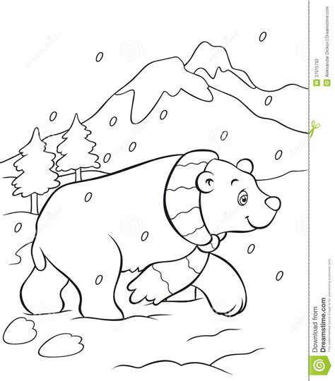 snow bear coloring page ledesma