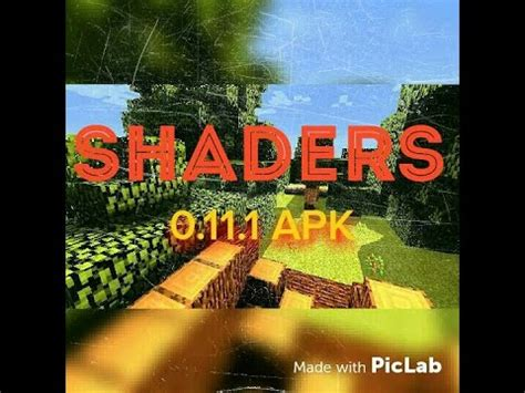 minecraft pe 0.11.1 [shaders] apk free download youtube