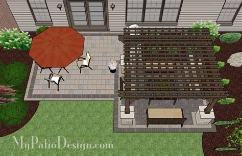 simple patio designs simple and affordable brick patio design with pergola