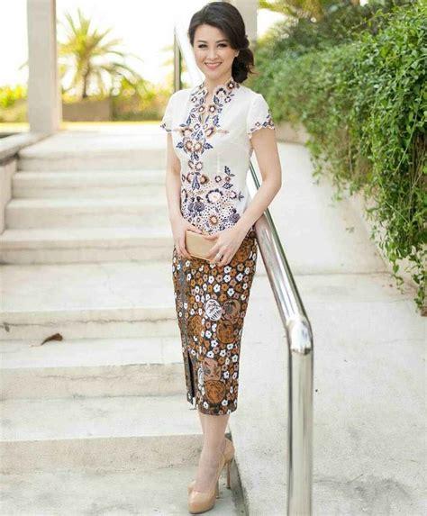 Rok Span Elegan 27 model kebaya wisuda modern simpel elegan terbaik 2017