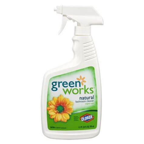 works bathroom cleaner clorox green works bathroom cleaner