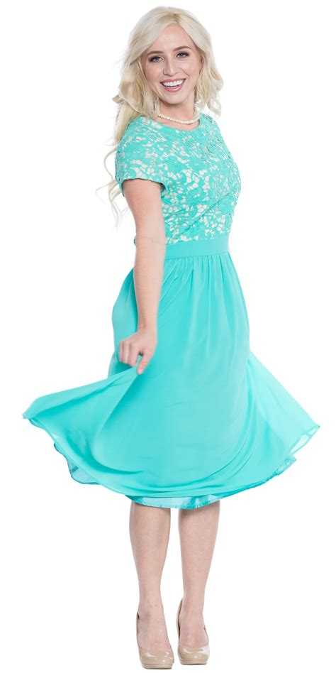 turquoise color dress semi formal modest bridesmaid dress in turquoise blue