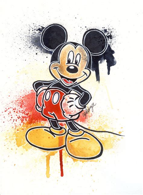 painting mickey mouse mickey mouse by lukefielding on deviantart