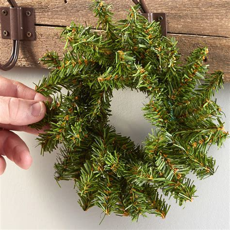 small artificial pine wreath holiday florals christmas
