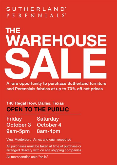 Warehouse Sale by Where We Re Shopping This Weekend David Sutherland S Warehouse Sale D Magazine