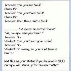 Let s put this logic to the test shall we i can t see my brain