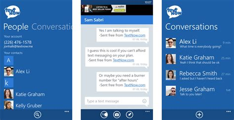 textnow unlimited free texting and picture messaging app textnow jumps from android and ios to windows phone
