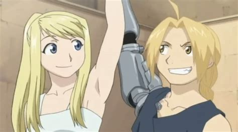 fullmetal alchemist brotherhood edward and winry kiss edward and winry by xwomiex on deviantart