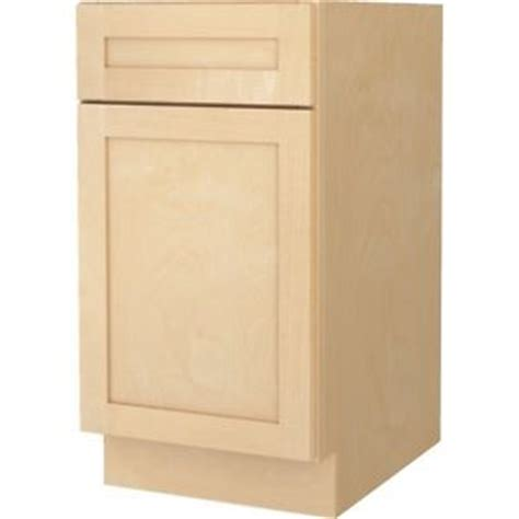 bathroom vanity base cabinet natural maple shaker 18 quot wide