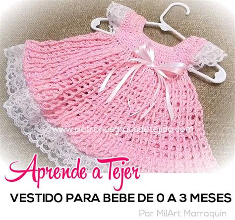como tejer vestidos para bebe crochet como tejer vestido para bebe de 0 a 3 meses en encaje