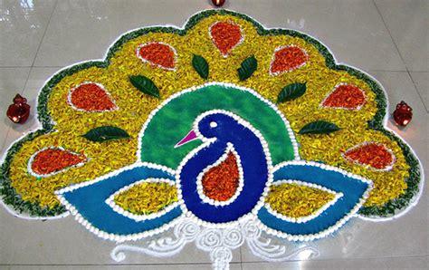 simple pattern of rangoli top 50 latest best beautiful easy peacock rangoli design
