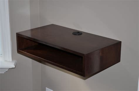floating tv shelf by cstrang lumberjocks