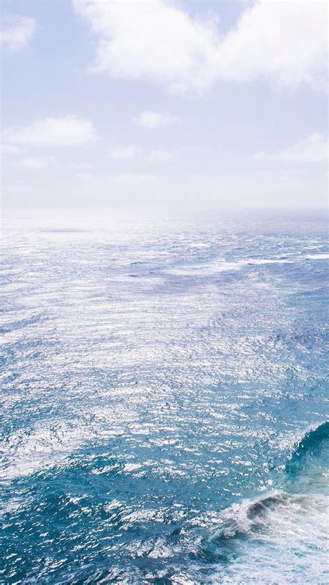 nature sea blue wave ocean iphone   wallpaper