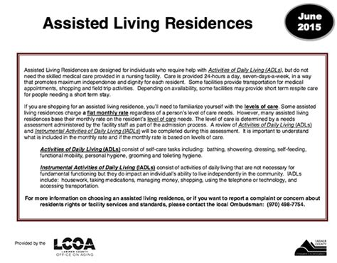 get a pdf facility list for larimer county