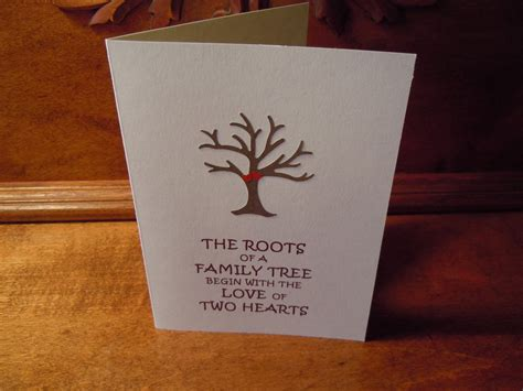 Handmade Cards Anniversary - handmade 1st wedding anniversary greeting card with tree and