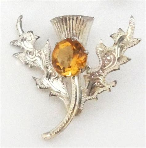 Bros Pin Bo02 Silver S antique ward bros wbs sterling silver scottish citrine brooch thistle pin brooches it