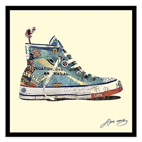 Sneaker Wall Decor by Alex Zeng High Top Sneaker Collage Wall Bed Bath