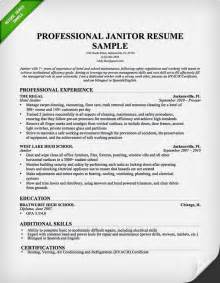 janitor resume professional sle resume for janitorial