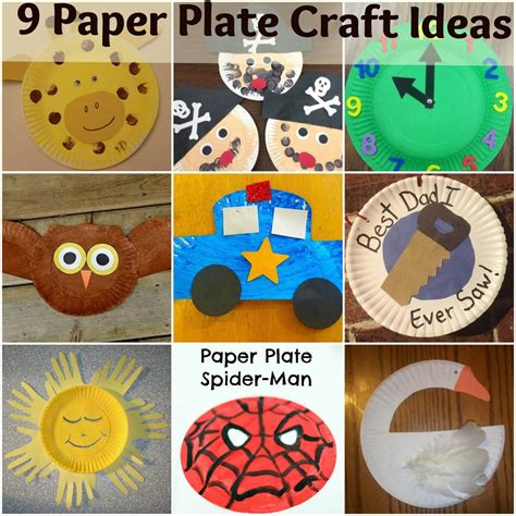 Craft Ideas Paper Plates - 9 paper plate craft ideas for mother2motherblog