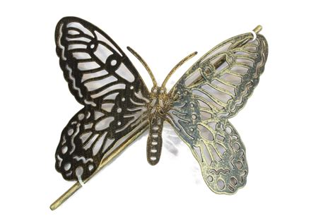 Plus Black Butterfly L 1x brushed gold black butterfly design metal curtain tie back blendboutique