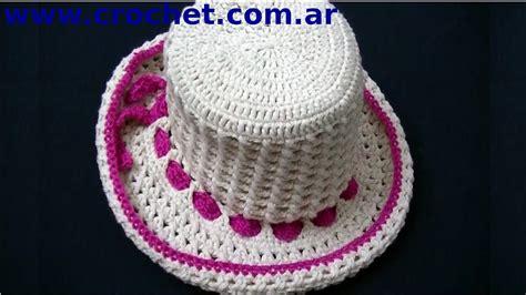 www tejidos en croche sombrero punto cruzado en tejido crochet tutorial paso a