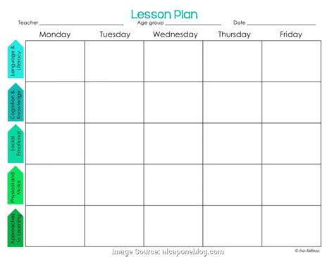 template for preschool fresh editable preschool lesson plan template lesson plan