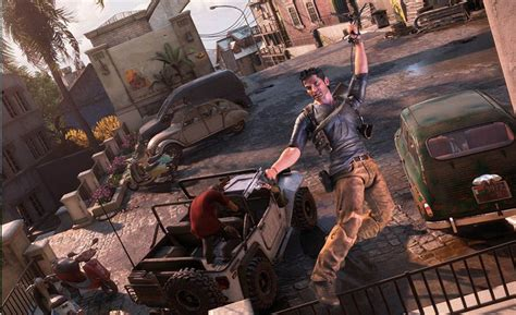 drake swinging neca s uncharted 4 nathan drake action figure swings into