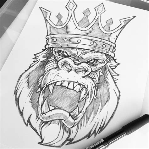 tattoo illustration pinterest las 25 mejores ideas sobre tatuaje de gorilla en pinterest