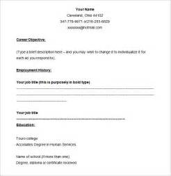 Sample Blank Resume 40 blank resume templates free samples examples