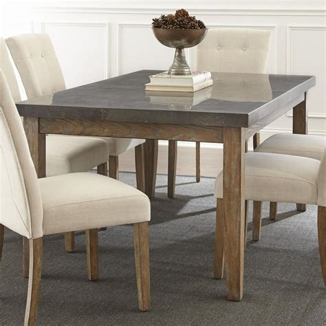 silver kitchen table steve silver debby transitional rectangular dining table with bluestone top olinde s furniture