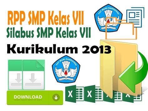 Cd Rpp Ppkn Kelas Viii Kurikulum 2013 Revisi 2017 rpp silabus kurikulum 2013 smp kelas vii format words dapodik