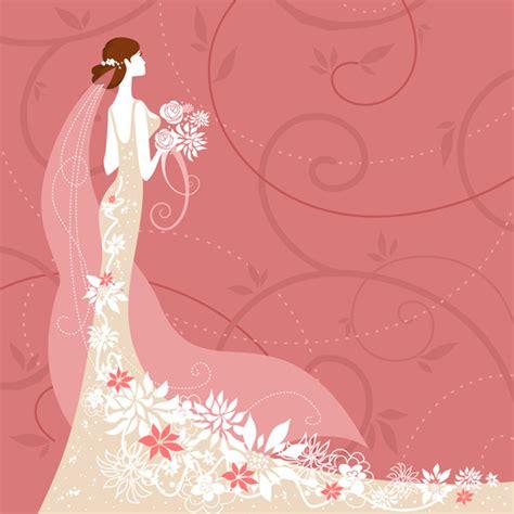 desain dress vector 結婚式の招待状や式次第に使える かわいい無料イラストまとめ インスピ
