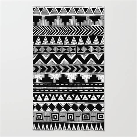 black and white aztec rug busy black and white aztec pattern rug by stacey muir