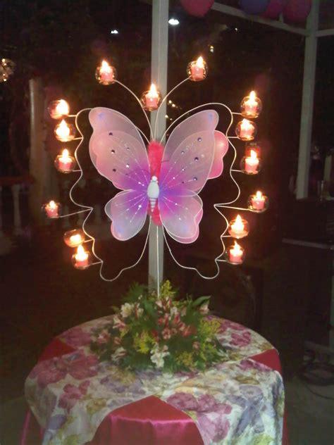 adorno de quince en mariposa sue 209 os de una quincea 209 era centros de mesa fiesta tematica
