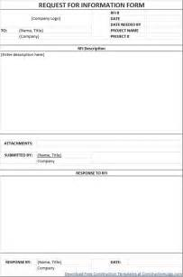 request for information rfi template free request for information rfi form template regarding