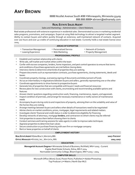 Sample Resume For Real Estate Agent Pics Photos Real Estate Agent Resume Exandles