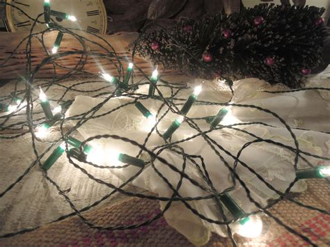 vintage white christmas lights made in italy miniature