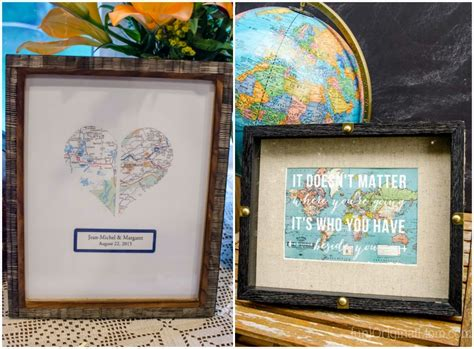 wedding gift ideas for travelers map themed decor with your silhouette unoriginal