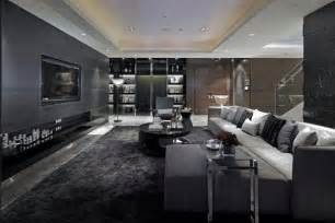 Grey And Black Living Room Ideas Luxurious Living Room Design With Black Grey Furniture And