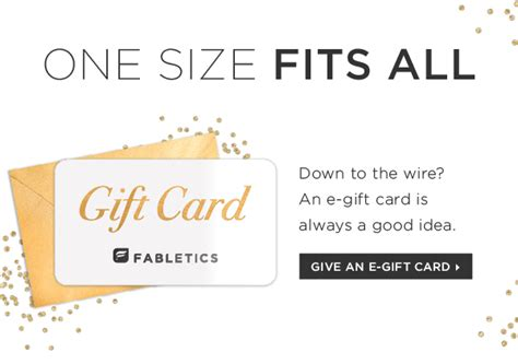 Fabletics Gift Card - fabletics leggings for you gift card for them milled