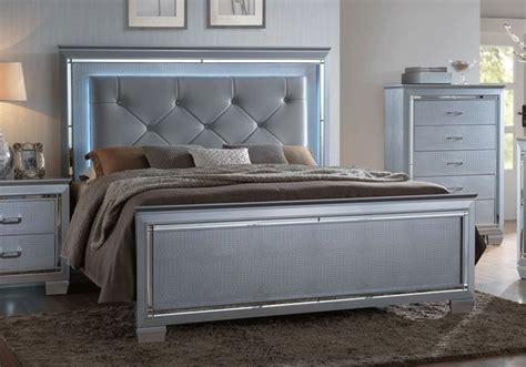 chrome bedroom furniture lillian chrome king bedroom set cincinnati overstock