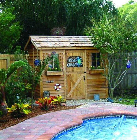 backyard supply cabana storage shed c96