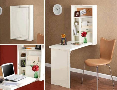 Diy Fold Out Desk Space Saving Wall Mount Fold Convertible Desk