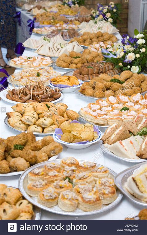 Wedding Anniversary Buffet Ideas by Food Buffet Table At A Wedding Reception In The Uk Stock