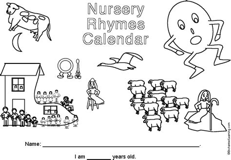 Calendar Rhyme 2017 2018 Rhymes Calendar Cover Page Enchantedlearning
