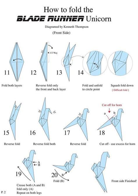 Blade Runner Origami - origami blade runner unicorn