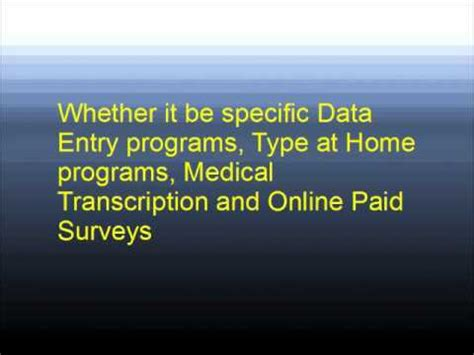 legitimate data entry from home with no fees