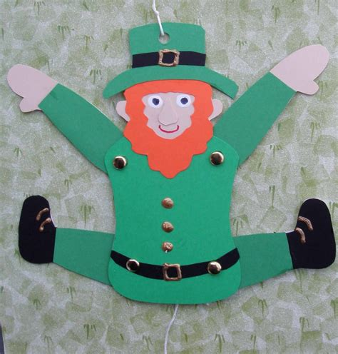 leprechaun crafts for of crafts leaping leprechaun craft
